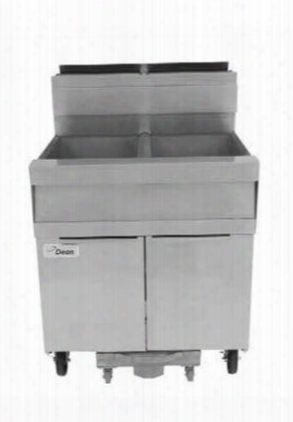 """Scfsm250glp 31"""" Super Marathon Gas Fryer With Built-in Filtration 100lb Oil Capacity 240 000 Btu Input Durable Temperature Probe And Wide Cold Zone In"""