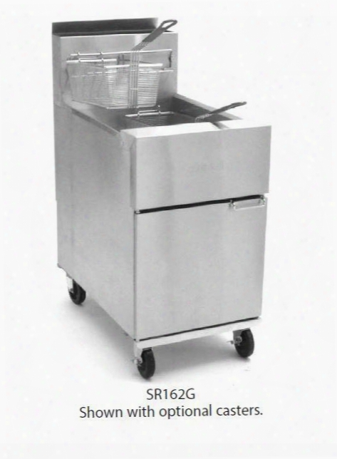 "Sr162glp 20"" Super Runner Value Gas Fryer With 75lb Oil Capacity Tube-type Frypot Design Durable Temperature Probe And Millivolt Control System In Stainless"