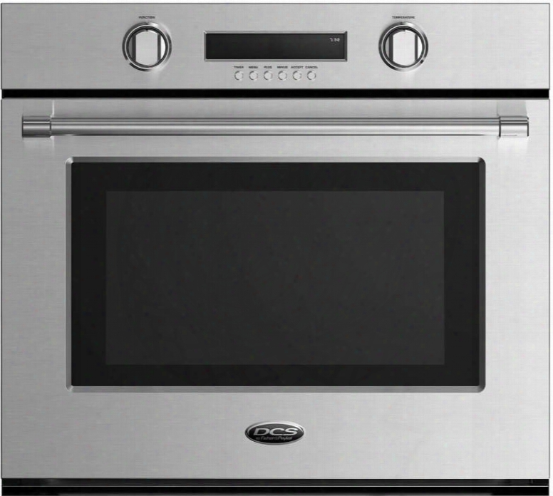 "Wosv2-30 30"" Single Wall Oven With 4.1 Cu. Ft. Total Capacity 10 Cooking Function 4 Way Convection System Easy To Clean And Halo Illuminated Dials And"