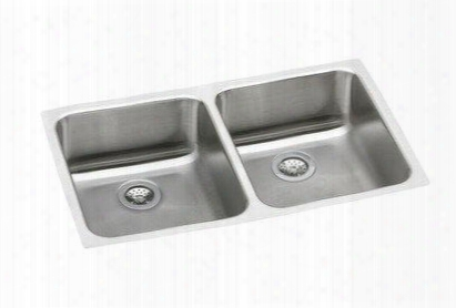 "Eluhe3118 Gourmet Stainless Steel 30-3/4"" X 18-1/2' Undermount Double Basin Kitchen"