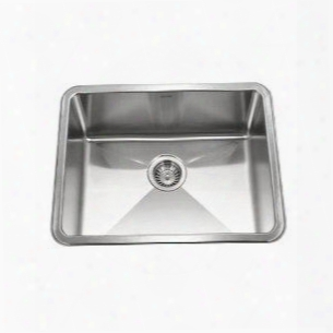 Nos-4100-1 Nouvelle Single Bowl Undermount Stainless Steel Kitchen Sink With Includes Bottom Grid Strainer