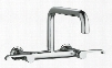 K-6127-4-SN Wall Mount Double Handle Kitchen Faucet with Metal Lever Handles from the Torq Series: Polished