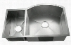 "LI-2200-B-D Tesero 33 1/2"" Double Bowl Undermount Kitchen Sink with Soundproofing System and Mounting Hardware in Stainless"