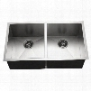 CTD-3350 Contempo Series Undermount Stainless Steel 50/50 Double Bowl Kitchen