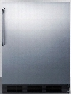 AccuCold FF6B7CSS 24 Inch Built-in Compact All-Refrigerator with 5.5 cu. ft. Capacity, Adjustable Glass Shelves, Door Storage, Crisper Drawer, Interior Lighting and Full Stainless Steel Exterior
