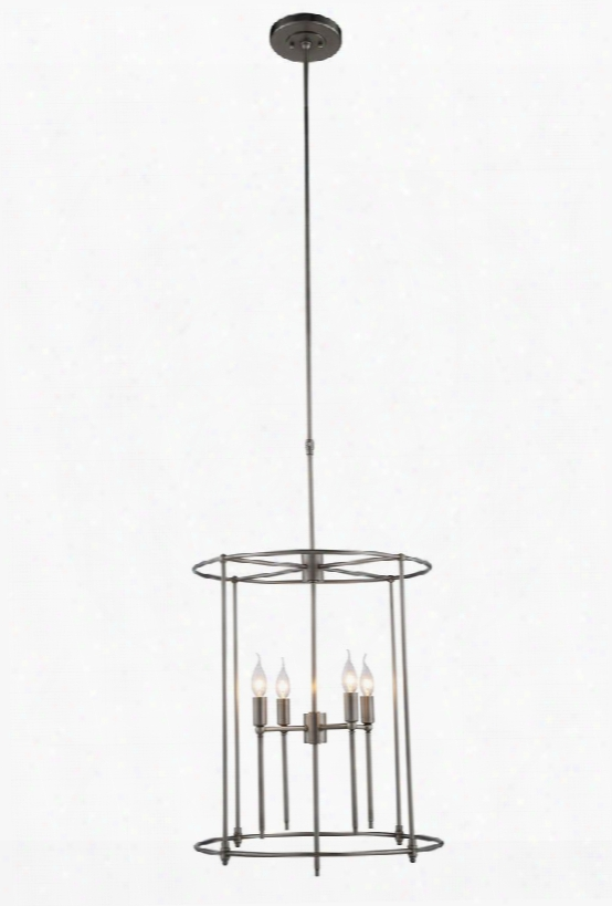 1442d22vn 1442 Eaton Collection Pendant Lamp D: 22 H: 48.5 Lt: 4 Vintage Nickel