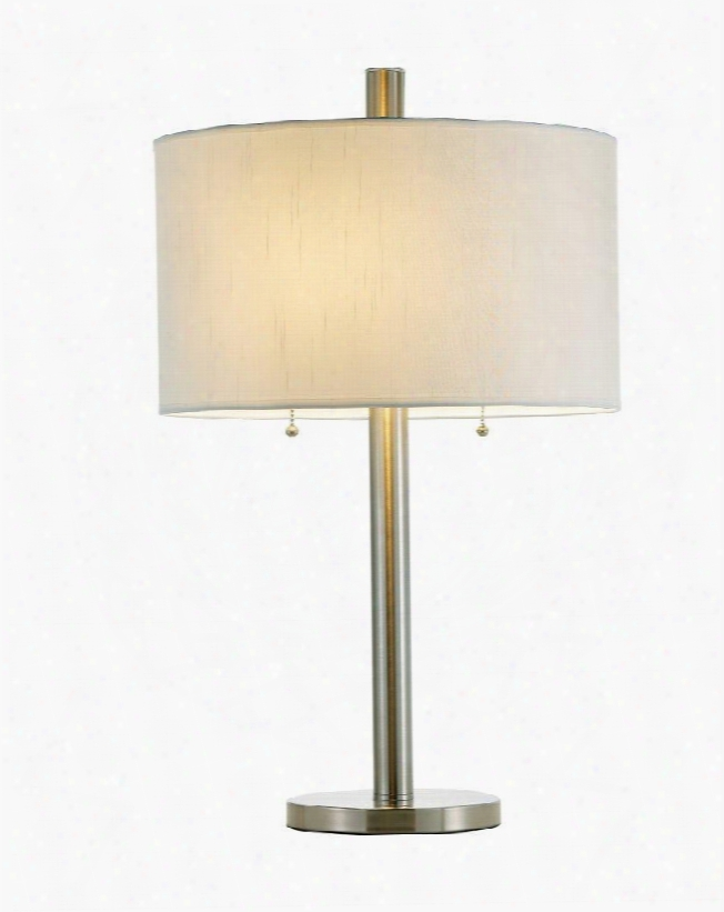 4066-22 Boulevard Table Lamp Brushed Steel
