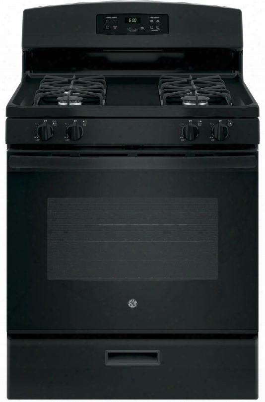 "Jgbs60dekbb 30"" Freestanding Gas Range With 4.8 Cu. Ft. Oven Capacity 4 Sealed Cooktop Burnersflexible Broiling Precise Simmer Burner Sabbatn Mode And"