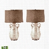 272/S2-LED Twisted Handle Terra Cotta LED Table Lamp in Cream