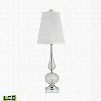 316-LED Serrated Venetian Glass LED Table Lamp in Clear And Gold Clear