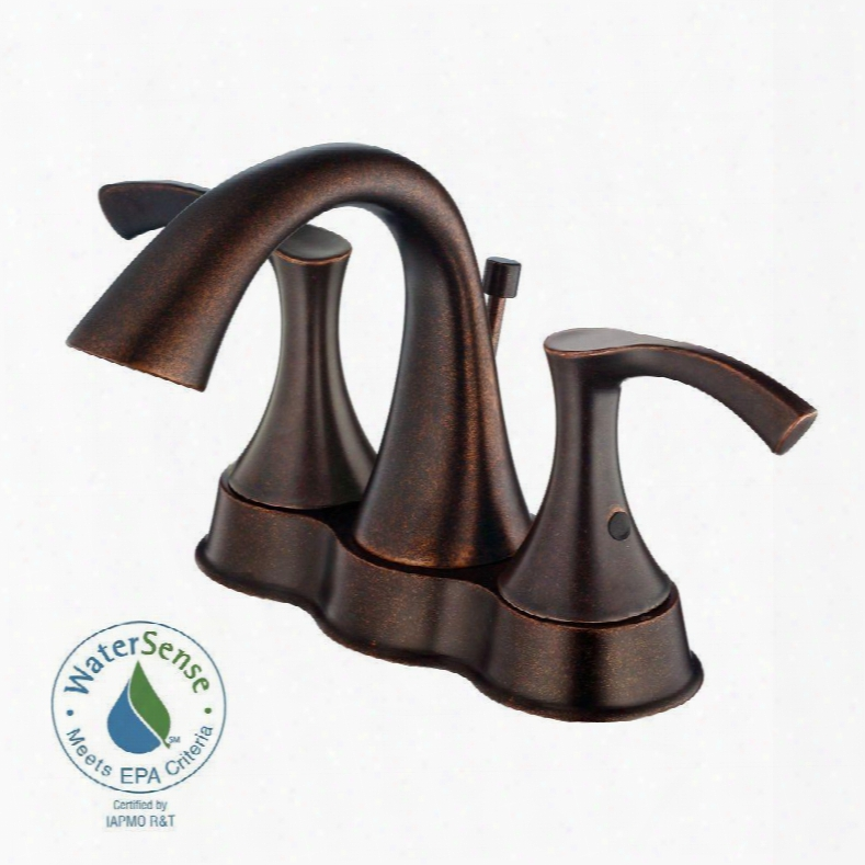 D301022br Antioch 4 In. 2-handle Bathroom Faucet In Tumbled