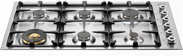 "Professional Series Qb36600xlp 36"" Wide 6 Sealed Burner Liquid Propane Cooktop Electronic Ignition Csa Certification Continuous Grates Low Edge Cooitop"