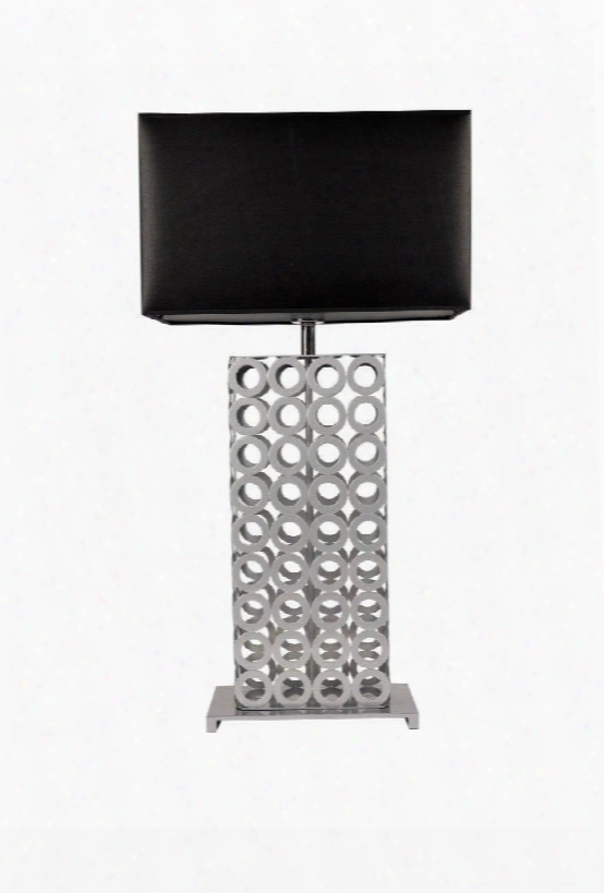 Tl1162-blk Jasper Table Lamp Black Fabtic And Metal