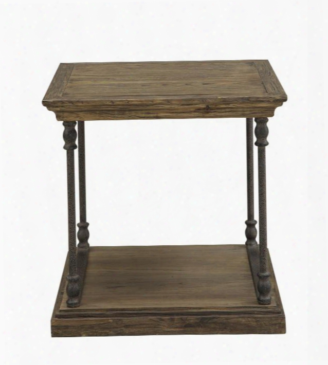 "61622 23"" End Table With Slab Top Slab-style Base And Beveled Edges In Corbin Medium"