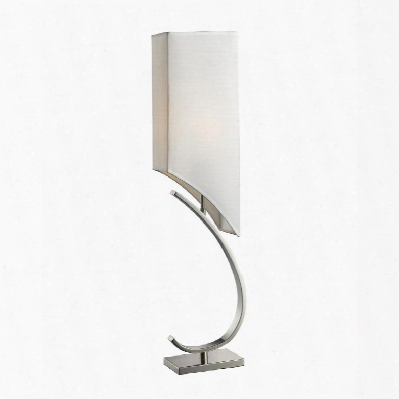 D2005 Appleton Table Lamp In Polished Nickel With Pure White