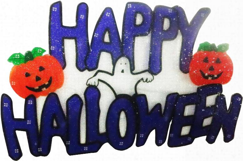Dem150s 6 Happy Halloween Indoor Hanging Decor With 10 Led