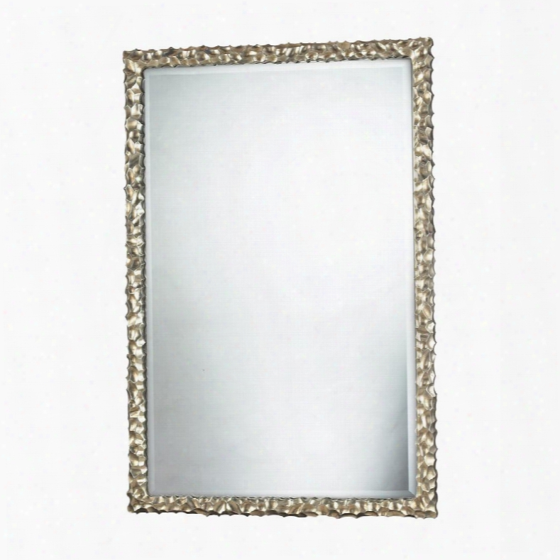 "Emery Hill Collection Dm1997 45"" X 30"" Wall Mirror With Beveled Edges Rectangle Mirror And Composite Material In Silver Leaf"