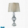 D1812-LED Donaldson LED Table Lamp In Clear Crystal And Pure