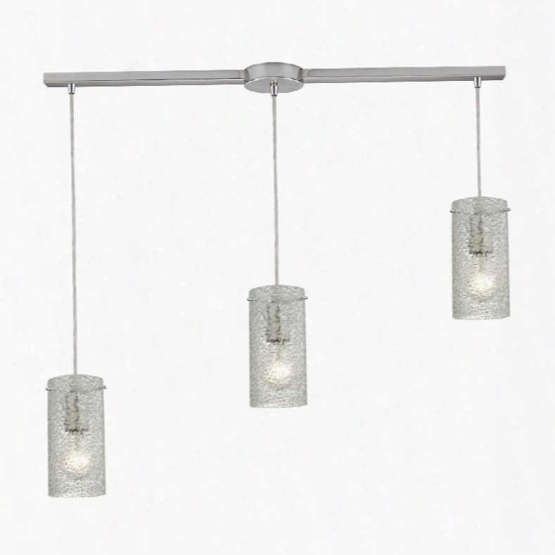 10242/3l-cl Ice Fragments 3 Light Pendant In Satin