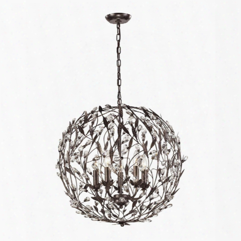 18135/5 Circeo Collection 5 Light Pendant In Deep