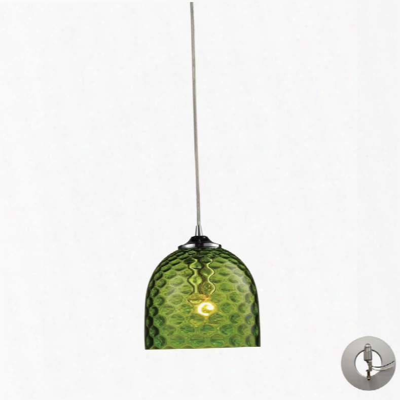 31080/1grn-la Viva 1-light Inexperienced Pendant In Polished Chrome With Adapter