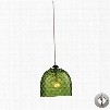 31080/1GRN-LA Viva 1-Light Green Pendant in Polished Chrome with Adapter