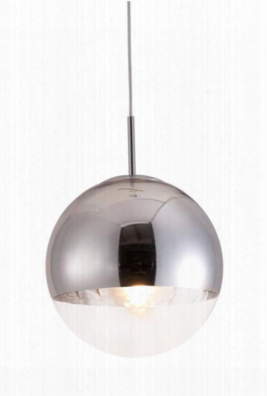 """50104 15"""" Kinetic Ceiling Lamp Made Of Half Chrome And Half Glass And Fully"""