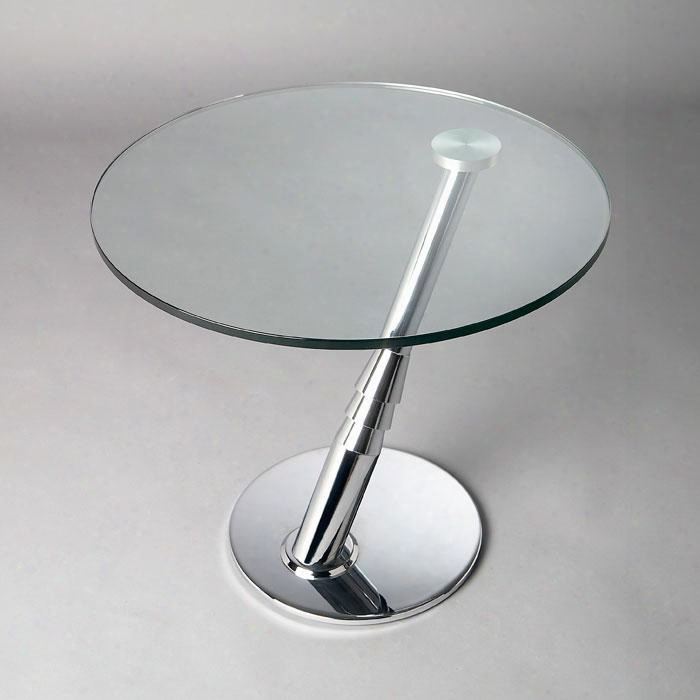 8160-lt Angled Arm Lamp Table Clear