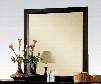 """Louis Philippe III 19504 36"""" x 38"""" Rectangle Mirror with Beveled Edge Solid Rubberwood and Gum Veneer Materials in Black"""