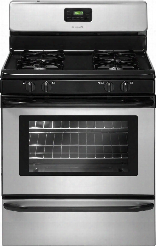 "Ffgf3015lm 30"" Freestanding Gas Range With 4 Sealed Burners 4.2 Cu. Ft. Oven Capacity Broiler Drawer Square Steel Grates Ready-select Controls In"