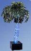 "AP-5 96"" High Aqua Palm Indoor Bubbling Palm Tree Floor"