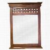 """MIR055 Bath Elements 26"""" x 34-.2"""" Nutmeg Lyn mirror with 3.5"""" wide shelf and Beveled"""