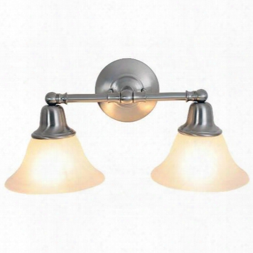 Monument 617219 Sonoma Lighting Collection, 2 Light Vanity, Brushed Nickel 617219