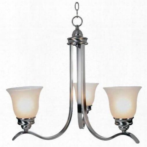 Monument 617246 Sanibel Lighting Collection, 3 Light Chandelier, Brushed Nickel 617246