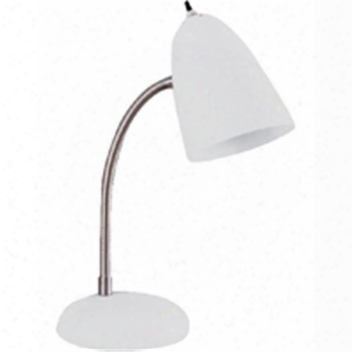 Boston Harbor Tl-tb-170-wh3l Lamp Desk Flex/adj A19 White Finish=white