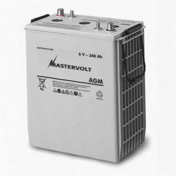 """Mastervolt Agm 6/260 6-volt Agm Battery, 260ah, 745cca, 11 5/8""""l X 7 1/8""""w X 11 11/16""""h, 80lb."""
