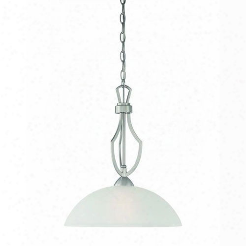 Thomas Lighting Tc0005217 Charles 1 Light Pendant In Brushed Nickel Finish