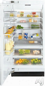 Miele Mastercool Series K1913sf 36 Inch Built-in All-refrigerator Column With 4 Spill Proof Glass Shelves, Stability-hinge, Supercool Function, Rapidco Ol Loading Function, Remotevision Capable, Clearview Lighting System And Energy Star: Stainless Steel, L