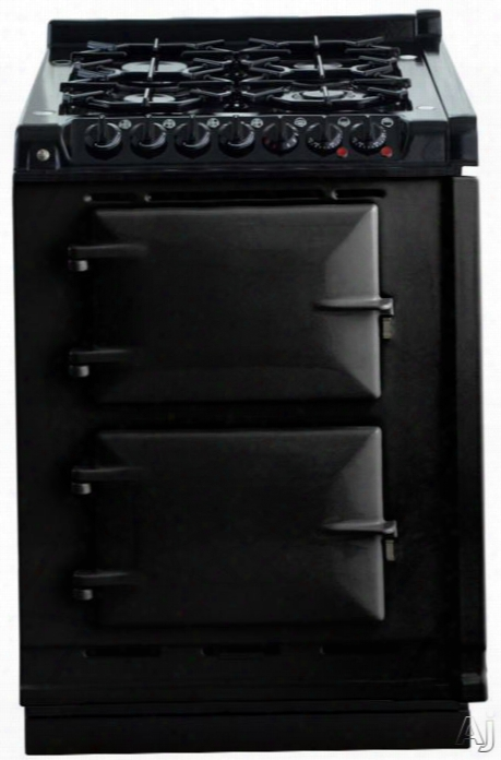 Aga Tcdclpmblk 24 Inch Freestanding Dual Fuel Liquid Propane Range With Convection, Infrared Broiler, Four-ring Burner, 4 Sealed Burners, 4.9 Cu. Ft. Total Oven Capacity And Special Oven Linings: Black