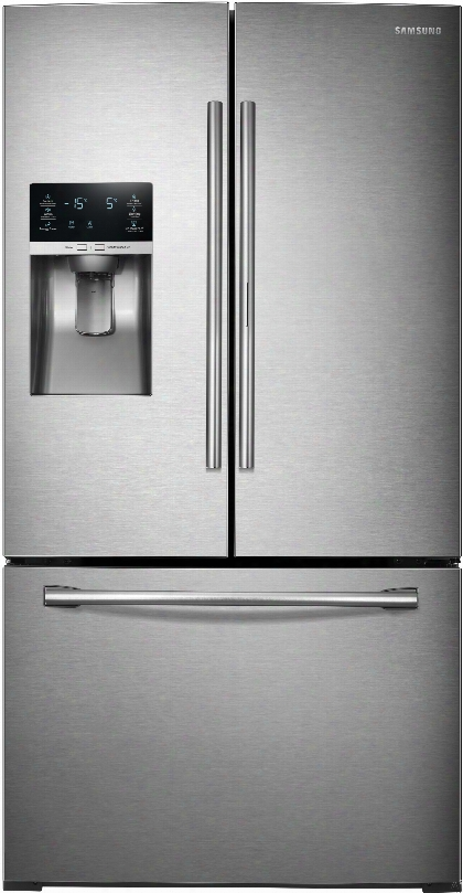 Samsung Rf28hded 36 Inch French Door Refrigerator With Showcase Door, Coolselect Pantryã¢â�žâ¢, Twin Cooling Plusã¢â�žâ¢, 27.8 Cu. Ft. Capacity, Spillproof Shelves, Metal Cooling, Humidity Controlled Crisper Drawers, Ice And Water Dispenser And Energy Sta