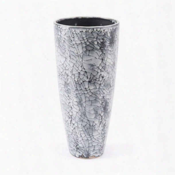 A10226 Marbled Small Vase Black &