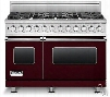 Viking Professional Custom Series VDSC5488BBULP 48 Inch Pro-Style Dual-Fuel Range with 8 VSH Pro Sealed Burners, VariSimmers, Vari-Speed Dual Flow Convection Ovens, Self-Clean, Bread Proofing and Rapid Ready Preheat: Burgundy, Liquid Propane