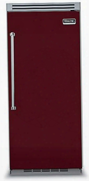 Viking Professional 5 Series Vcrb5363rbu 36 Inch Built-in Full Refrigerator With 4 Spillproof Glass Suelves, 5 Door Bins, Humidity Controlled Drawers, Plasmacluster Ion Air Purifier And Sabbath Mode: Burgundy, Right Hinge