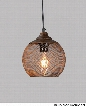 """LR6359-07 7"""" Pendant with 1 Light and Iron Construction in Antique Brown with Spotted Gold"""