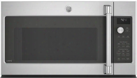 "Cvm9215slss 30"" Over The Range Microwave Oven With 2.1 Cu. Ft. Capacity Chef Connect Led Cooktop Lighting And Four-speed 400 Cfm Venting Fan System In"