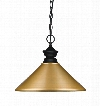 "Pendant Lights 100701MB-MSG 14"" 1 Light Pendant Traditional Classicalhave Steel Frame with Matte Black finish in Satin"