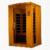 """Venice II Edition DYN-6210-02 75"""" Far Infrared Sauna with 2 Person Capacity 6 Carbon Heating Elements Chromotherapy Lighting and Tempered Glass"""
