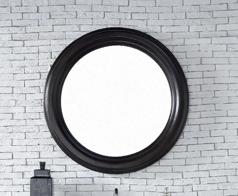 "Vancouver Collection 505-m40-ceo 40"" Mirror With American Ash Solids Beveled Glass And Recessed Keyhole Brackets In Cerused Ebony"