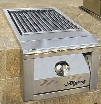 Alfresco AGSZ 14 Inch Built-In Single Ceramic Sear Burner with Stainless Steel Construction, Knob Control and Cover Included
