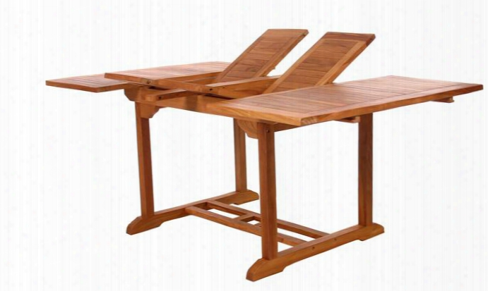 "Td72 50"" - 75"" Butterfly Extension Table With Two Butterfly Extension Leaves Java Indonesian Teak Construction And Rust Resistant Brass Fittings In Light Teak"